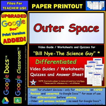 bill nye outer space worksheet. Black Bedroom Furniture Sets. Home Design Ideas