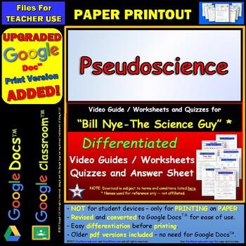 Printables Bill Nye Worksheets bill nye pseudoscience worksheet answer by star materials sheet and tw