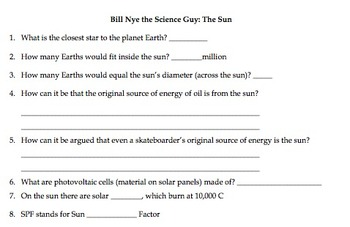 Worksheets Bill Nye The Science Guy Energy Worksheet bill nye energy worksheet starmaterials com free video worksheets and bill