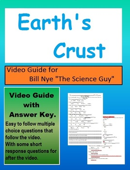 Bill Nye: The earth's crust Plate tectonics video sheet