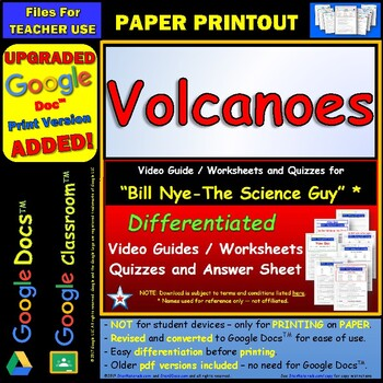 Bill Nye Volcanoes Worksheet | Worksheet