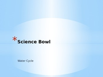 """Bill Nye Water Cycle """"Science Bowl"""" Game"""