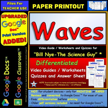 Printables Bill Nye Waves Worksheet bill nye waves worksheet answer sheet by star materials and two quizzes