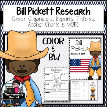 Bill Picket Biography Research Bundle {Report, Trifold, & MORE!}