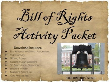 Bill of Rights Activity Packet