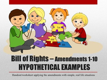 Bill of Rights Amendments 1-10 Simple Hypothetical situati