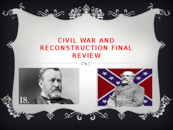 Bill of Rights, Civil War, and Reconstruction Comprehensiv