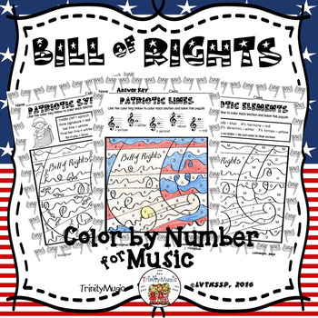 Bill of Rights Color By Number (Music)