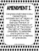 Bill of Rights Primary Source POSTERS - Black and White