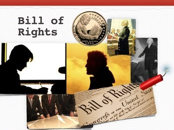 Bill of Rights Constitutional Law + 10 Printables + Quiz +