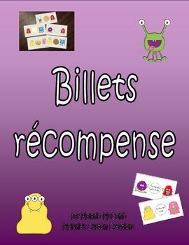 Billets récompense MONSTRES - French Reward Coupons (Scrat