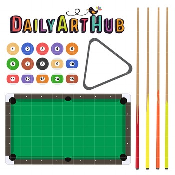 Billiards Clip Art - Great for Art Class Projects!