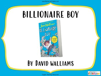 Billionaire Boy teaching resources - Powerpoint, worksheet