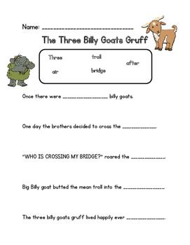 Billy Goats Gruff Writing