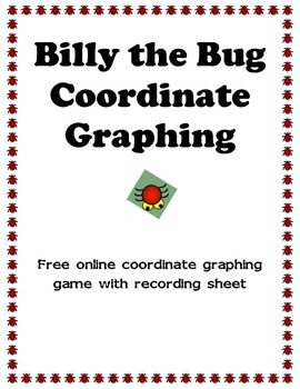 Billy the Bug Coordinate Graphing Recording Sheet