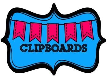 Bin Label for Clipboards