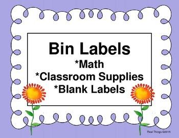 Bin Labels for Supplies-Periwinkle  (Flash Freebie)