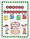 Binder Acronym Cover Designs