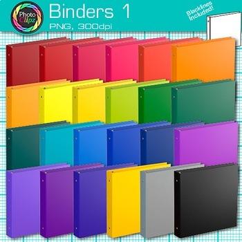 School Binder Clip Art {Back to School Supplies for Classr