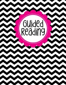 Binder Cover - Black & White Chevron with Magenta Guided R