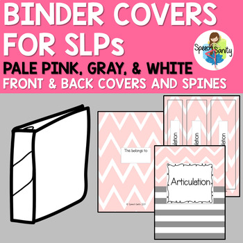 Binder Covers for SLPs : Pale Pink, Gray, & White