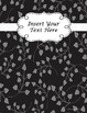 Binder Cover Pages {Editable} in Black & White Floral Whimsy