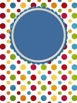 Binder Cover - Polka Dot Fish - editable
