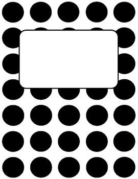 Binder Cover - Polka Dot - Freebie