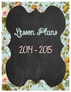 Binder Cover Printable: Chalkboard Vintage Floral