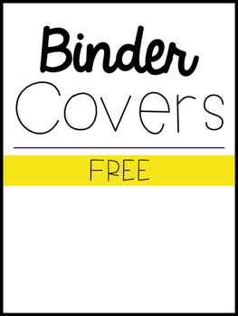 Binder Cover & Spine *FREEBIE*