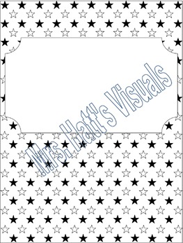 Binder Cover: Stars