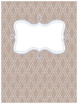 Binder Cover~PolkaDiamond (Customizable)