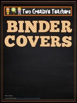 Binder Covers Blank Chalkboard Theme