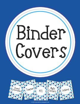 Binder Covers Blue Polka Dot Theme