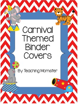 Binder Covers--Carnival Theme {Editable}