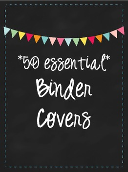 Binder Covers: Get Organized!