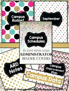 Binder Covers - In Love with Gold Design for Administrators