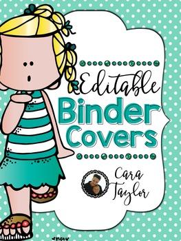 Binder Covers Melonheadz ~ Editable!