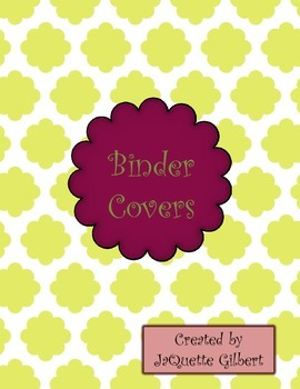 Binder Covers / Page Dividers
