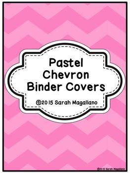 Binder Covers: Pastel Chevrons