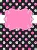 Binder Covers Pink Floral Watercolor ~ Editable!