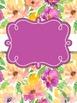 Binder Covers Purple Floral Watercolor ~ Editable!