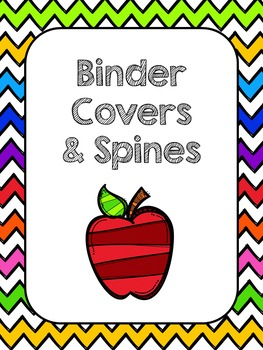 Binder Covers and Spines (Chevron)