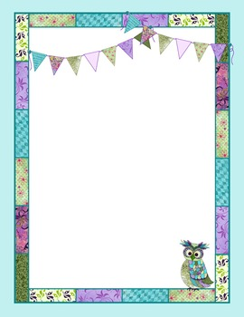 Binder Covers and Spines – Coordinates with Book Smart Owl