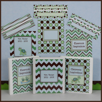 Binder Covers and Spines – Coordinates with Turtle Time Cl