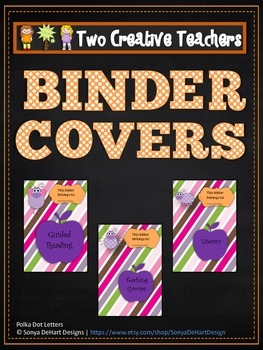 Binder Folder Covers Purple and Pink Bugs Theme