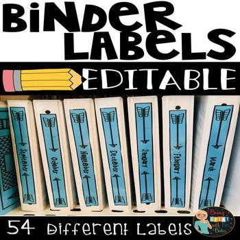Binder Labels-Spine and Front Cover--EDITABLE