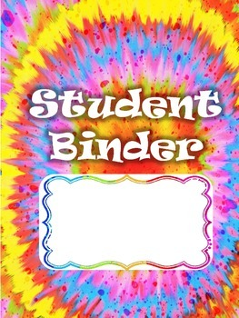 Binder Organization - NEW Tie-dye!