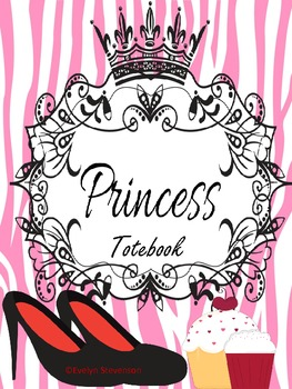 Binder Pink Pretty Princess Teacher Totebook