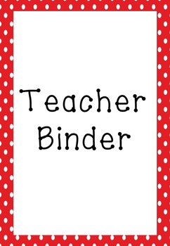 Binder Planner Divider Pages and Forms Red Polka Dot